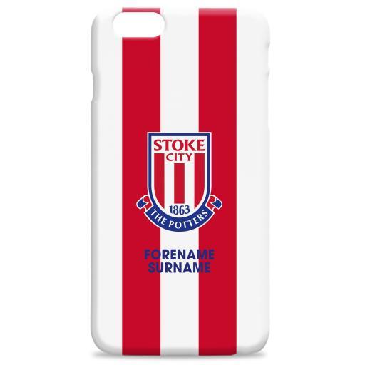 Stoke City Bold Crest Hard Back Phone Case