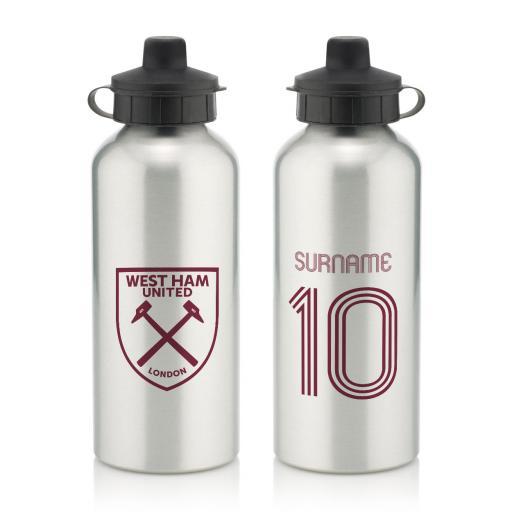 West Ham United FC Retro Shirt Water Bottle