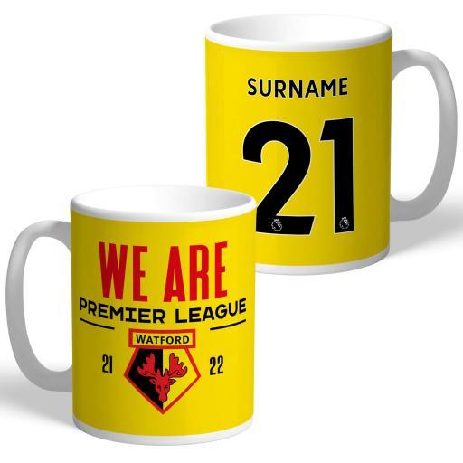 Watford FC We Are Premier League Mug