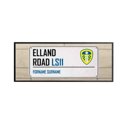 Leeds United FC Street Sign Regular Bar Runner