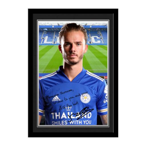 Leicester City FC Maddison Autograph Photo Framed