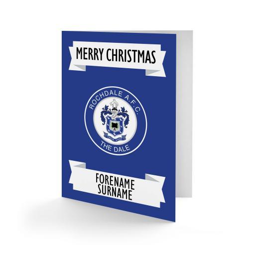 Rochdale AFC Crest Christmas Card
