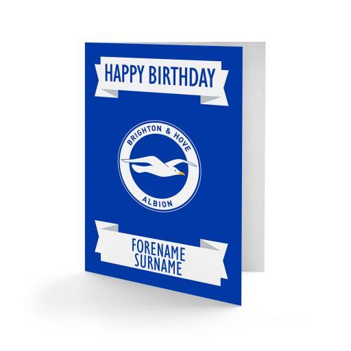 Brighton & Hove Albion FC Crest Birthday Card