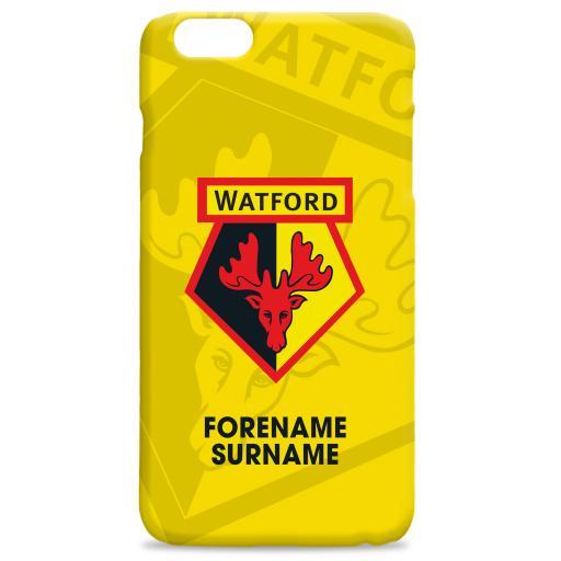 Watford FC Bold Crest Hard Back Phone Case