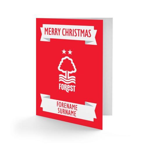 Nottingham Forest FC Crest Christmas Card