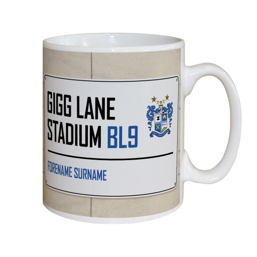 Bury FC Street Sign Mug