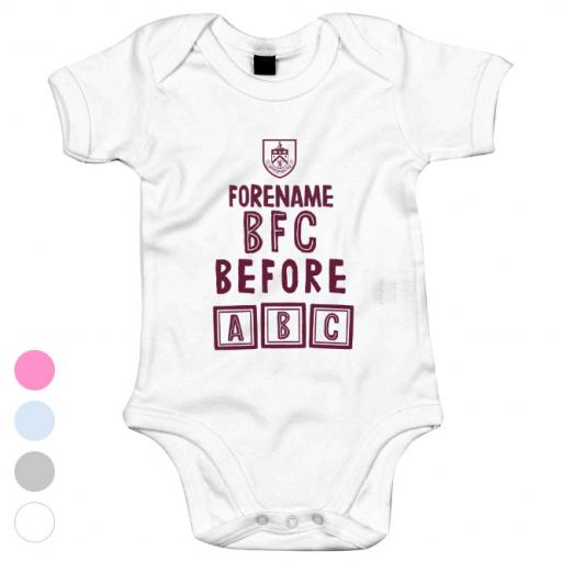 Burnley FC Before ABC Baby Bodysuit
