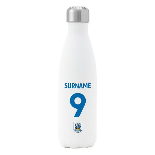Huddersfield Town AFC Back of Shirt Insulated Water Bottle - White