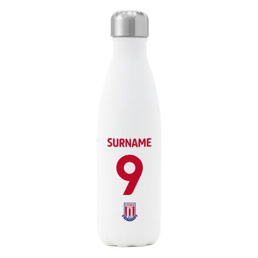 Stoke City FC Back of Shirt Insulated Water Bottle - White