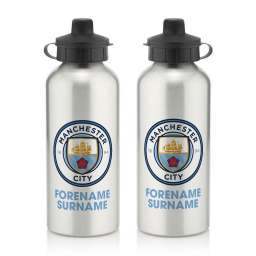 Manchester City FC Bold Crest Water Bottle