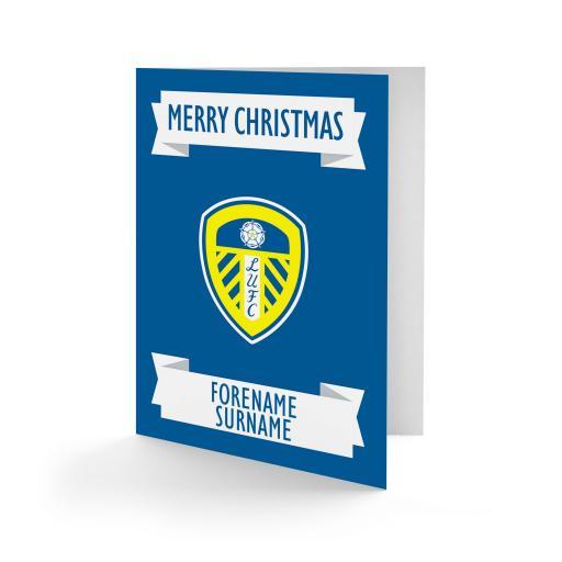 Leeds United FC Crest Christmas Card
