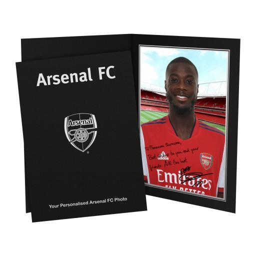 Arsenal FC Pepe Autograph Photo Folder