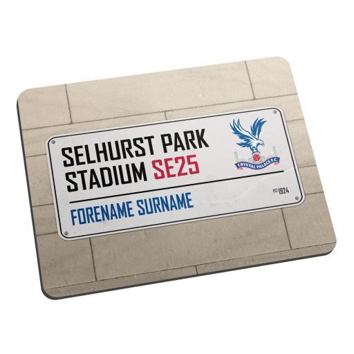Crystal Palace FC Street Sign Mouse Mat