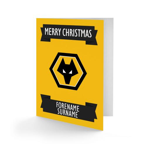 Wolves Crest Christmas Card