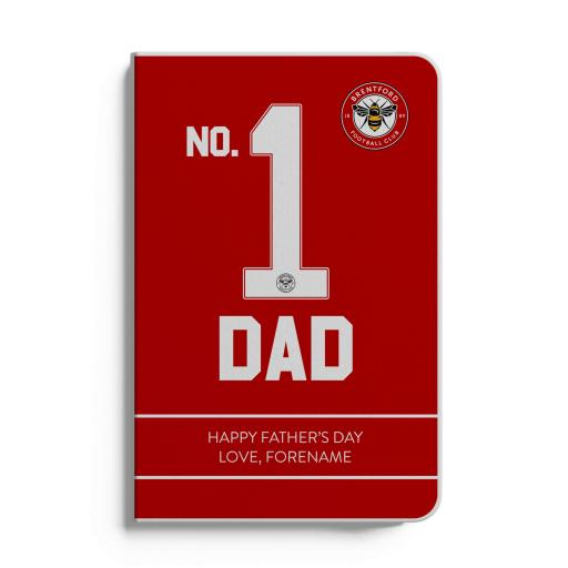 Brentford FC No.1 Dad A5 White Lined Notebook