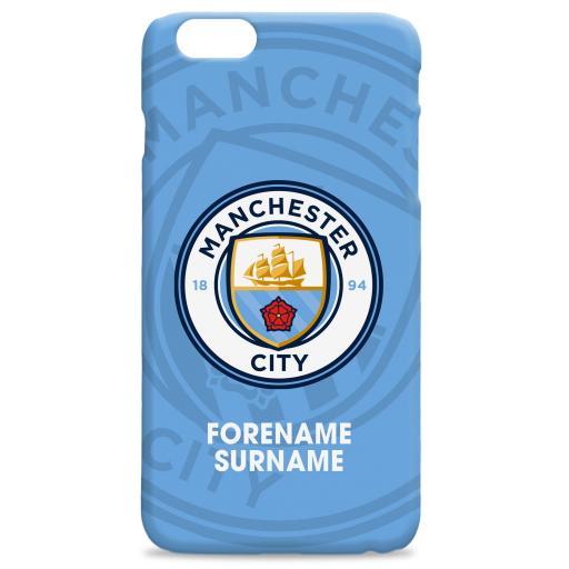 Manchester City FC Bold Crest Hard Back Phone Case