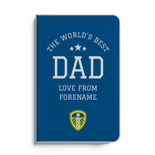 Leeds United FC World's Best Dad A5 White Lined Notebook