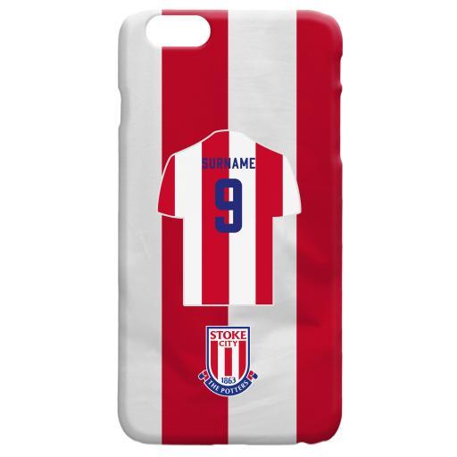 Stoke City FC Shirt Hard Back Phone Case