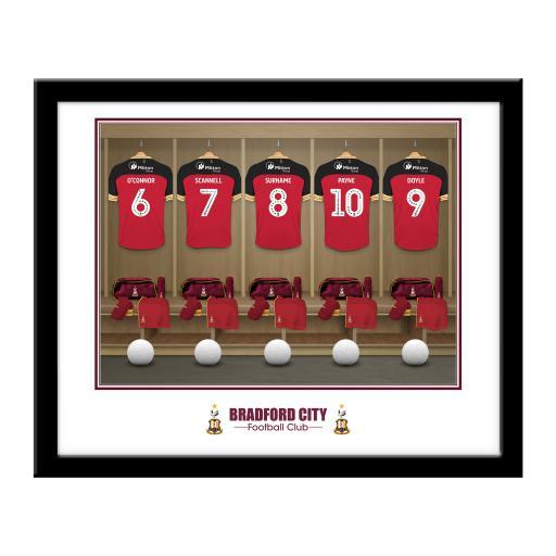 Bradford City AFC Dressing Room Framed Print