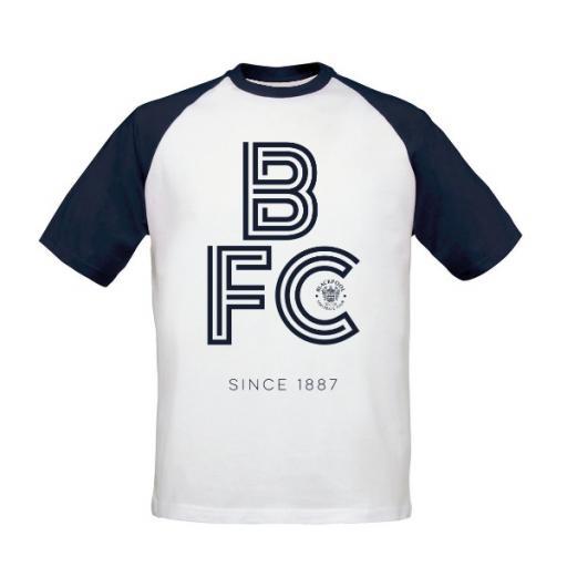 Blackpool FC Stripe Baseball T-Shirt