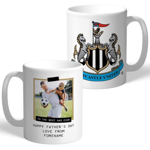 Newcastle United FC Best Dad Ever Photo Upload Mug