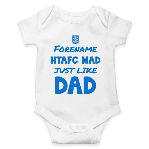 Huddersfield Town AFC Mad Like Dad Baby Bodysuit