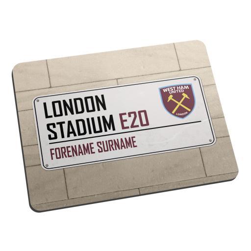 West Ham United FC Street Sign Mouse Mat