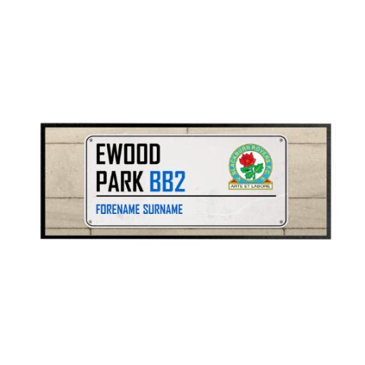 Blackburn Rovers Street Sign Regular Bar Runner
