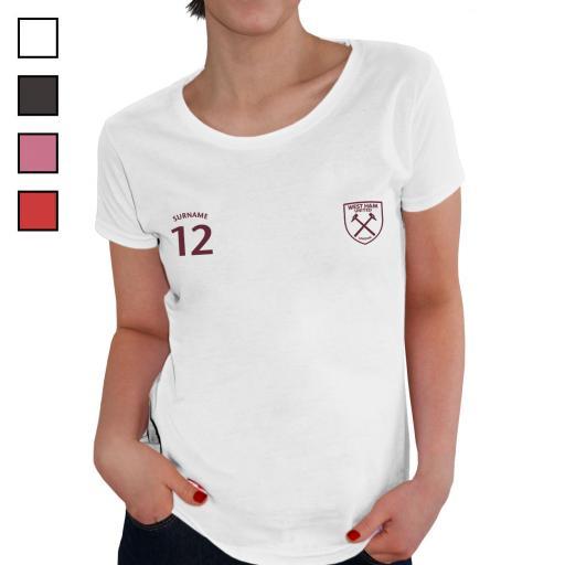 West Ham United FC Ladies Sports T-Shirt