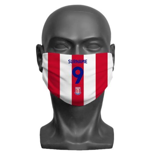 Stoke City FC Back of Shirt Adult Face Mask (Medium)