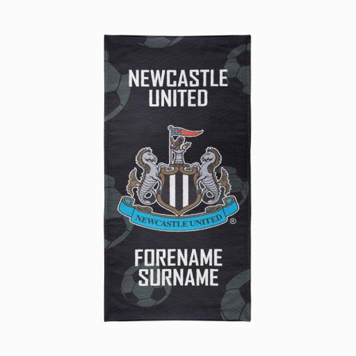 Newcastle United FC Crest Design Towel - 70cm x 140cm