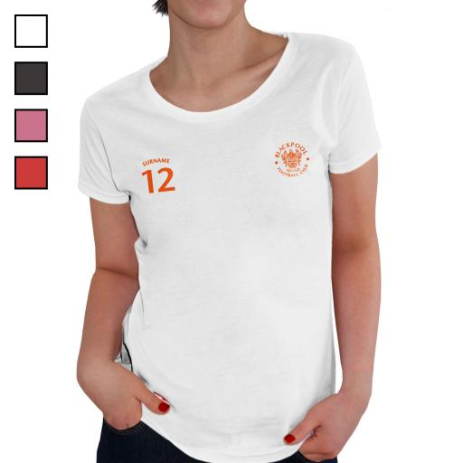 Blackpool FC Ladies Sports T-Shirt