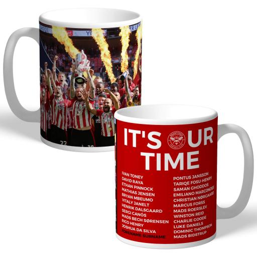 Brentford FC Promotion Team Photo Mug