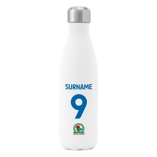 Blackburn Rovers FC Back of Shirt Insulated Water Bottle - White