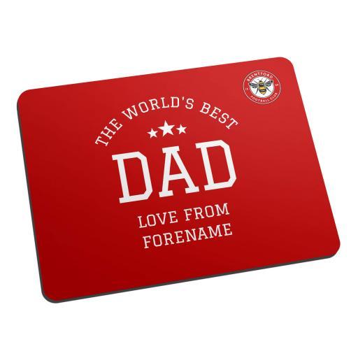 Brentford FC World's Best Dad Mouse Mat