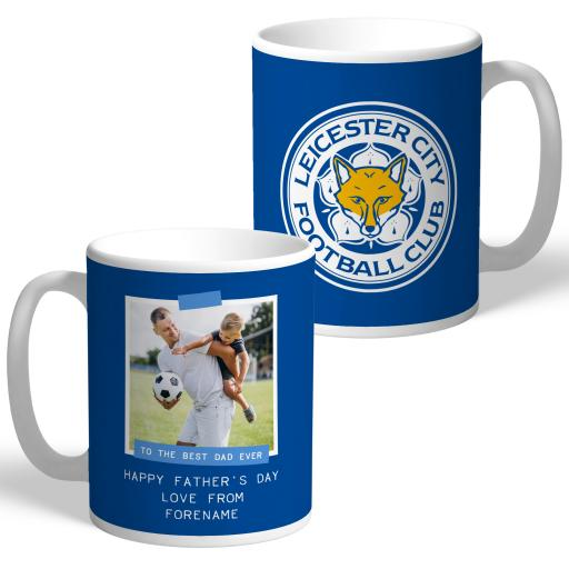 Leicester City FC Best Dad Ever Photo Upload Mug