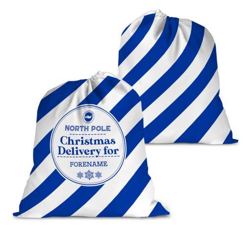 Brighton & Hove Albion FC Christmas Delivery Santa Sack