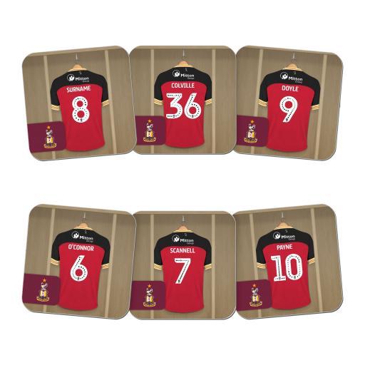 Bradford City AFC Dressing Room Coasters