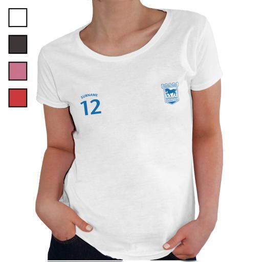 Ipswich Town FC Ladies Sports T-Shirt
