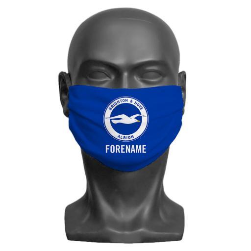 Brighton & Hove Albion FC Crest Adult Face Mask (Medium)