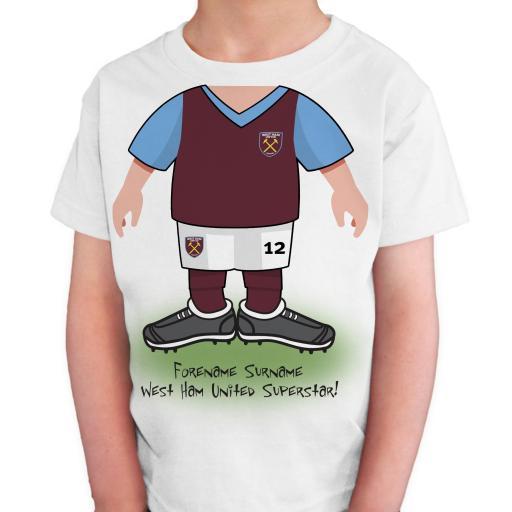 West Ham United FC Kids Use Your Head T-Shirt