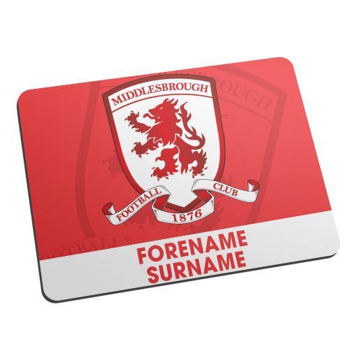 Middlesbrough Bold Crest Mouse Mat