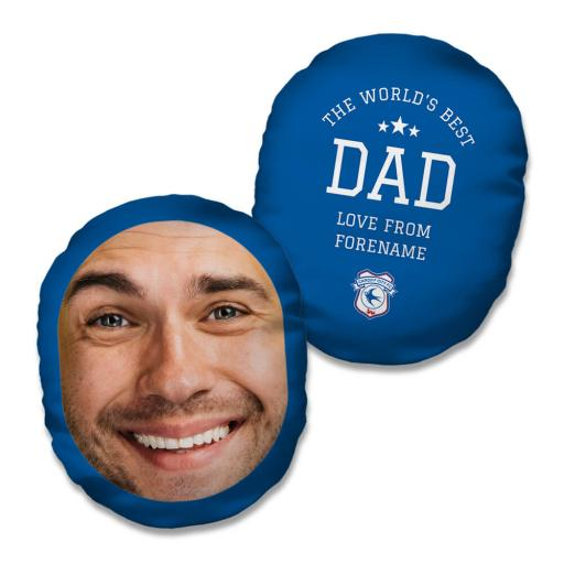 Cardiff City FC World's Best Dad Mush Cush