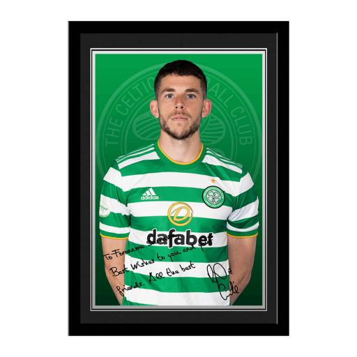 Celtic FC Christie Autograph Photo Framed