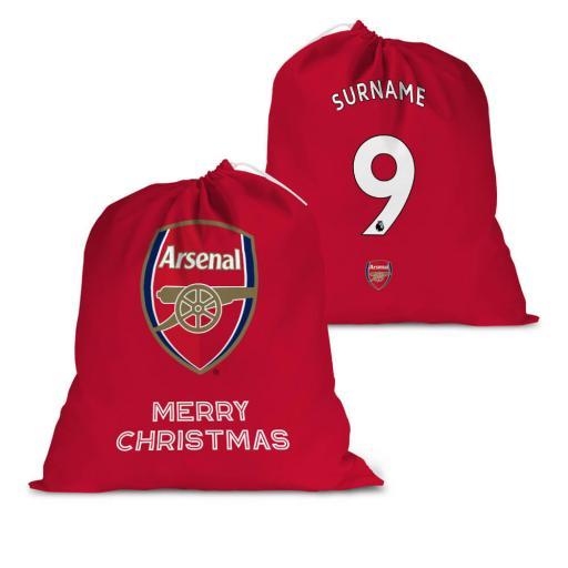 Arsenal FC Back of Shirt Santa Sack