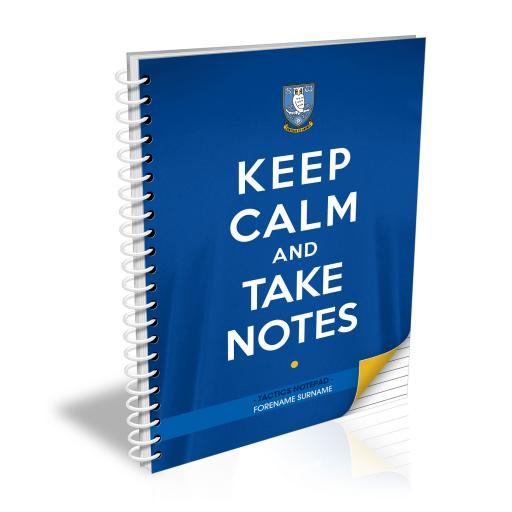 Sheffield Wednesday FC Keep Calm Notebook