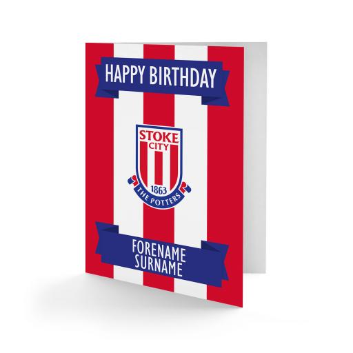 Stoke City FC Crest Birthday Card