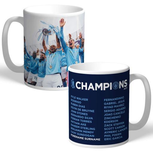 Manchester City FC Premier League Champions 2021 Team Photo Mug