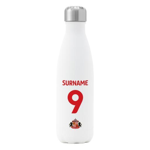 Sunderland AFC Back of Shirt Insulated Water Bottle - White