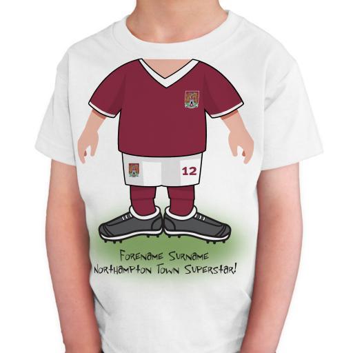 Northampton Town FC Kids Use Your Head T-Shirt